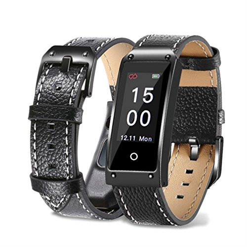 Fuibo Smartwatch, Y2 Farbe Bildschirm Blutdruck / Herzfrequenz Armband Smart Watch Armband Sport | Intelligente Armbanduhr Sport Fitness Tracker Armband (Schwarz)
