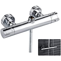 Robinet thermostatique de douche sortie haute et basse Moderne Rond