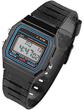 Taffstyle® Sportarmbanduhren - Digitale Silikon Uhr Retro Vintage 80er Jahre Armbanduhr mit vielen Funktionen