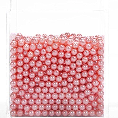 CANDeal Perles Rose pour Boîte de Rangement Organisateur Maquillage pour Pinceaux Transparent en Acrylique 1500 pcs