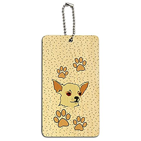 Chihuahua of Awesomeness Wood ID Tag Luggage Card Suitcase Carry-On