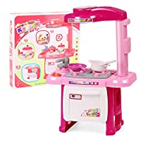 QPP-CL Toy Kitchen Kitchenware Cooking Set Lighting Music Play House Role Playing Children