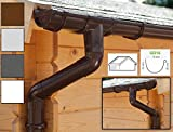 Dachrinnen/ Regenrinnen Set | Satteldach (2 Dachseiten) | GD16 | in 4 Farben! (Komplettes Set bis 5.25 m, Braun)