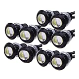 HopeU5® 10 X 9W 18mm Eagle Eye Led Car Nebel DRL Tag Reverse Backup Parking Signal 12V ultra-dünne Reversing Lights wasserdicht weiß