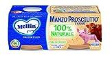 Mellin Omogeneizzato di Manzo Prosciutto con Verdure 100% Naturale - 24 Vasetti da 80 gr
