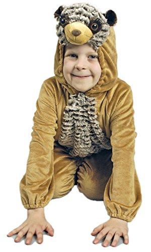 Erdmännchen Kostüm für Kinder Gr. 98 104 - Tolles Gruppen- oder Familienkostüm mit Thema Afrika oder Tierwelt ()
