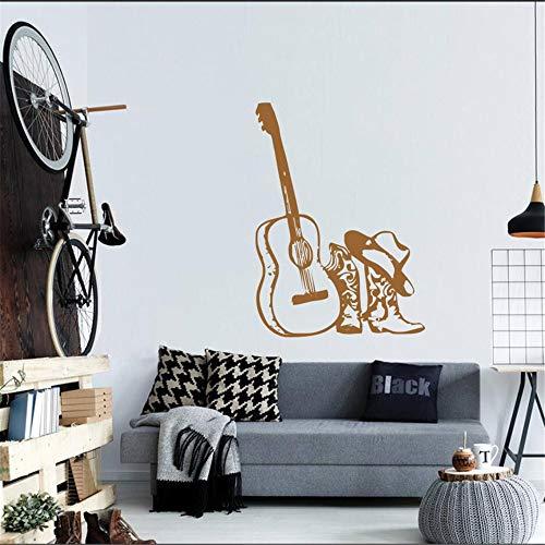 Lyclff Guitarra Musical con Botas de Vinilo calcomanías de Pared en casa Estilo de Moda Especial decoración...