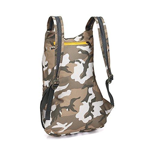 Zaino da escursionismo leggero pieghevole borsa da viaggio zaino, Camouflage 1# Camouflage 1#