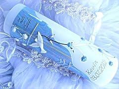 Idea Regalo - Battesimo candela comunione candela giovane 250/70 mm VT-01 con accessori per sé stessi ma anche scrivere