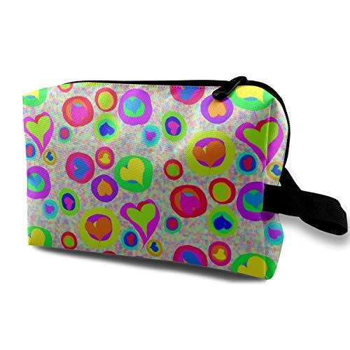 Streuung von Schatz-Sweeties auf Regenbogen Speckles_15624 Tragbare Reise-Make-up-Organisator-Multifunktionsfall-Taschen für Frauen ()