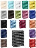 Betz 10er Pack Gästehandtücher Set Gästetuch 100% Baumwolle Größe 30x50 cm Handtuch Premium Farbe anthrazit