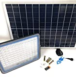 Di tutto Per Tutti Faro FARETTO LED 8200 da Esterno 200W 6500k Bianco Freddo con Telecomando Pannello Solare FOTOVOLTAICO ENERGIA Solare Sole LUCI