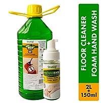 Herbal Strategi Floor Cleaner and Disinfectent 2 Litres, Foam Handwash 150ml (Pack of 2)