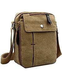 ab083f25fc Borsa a Tracolla da Uomo in Tela Messenger Bag Borse a Spalla da Uomo  Viaggio Sacchetto