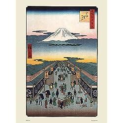 onthewall Hiroshige Póster de japonés Suruga-Cho