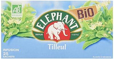 Elephant Infusion Tilleul Bio 25 Sachets 32.5g - Lot de 3