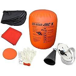 Vogvigo Voiture Gonflable Jack Trolley Jack,Outils de Réparation de Pneu Kit Lift Jacks Trolley Jack - par Échappement et pompe Gonflable -Capacité de 4 Tonnes