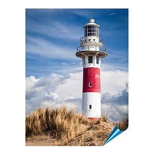 Fliesenaufkleber für Bad und Küche - 15x20 cm (BxH) - Motiv Lighthouse in Nieuwpoort - 8 Fliesensticker für Wandfliesen