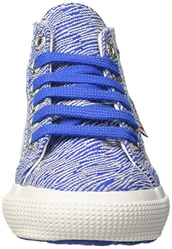 Superga 2795-Fabriczebraj, Sneaker a Collo Alto Bambina Blu