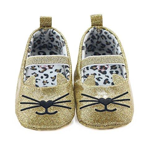 Chaussures bébé,Xinan Chaussures Garçon Fille Cuir Souple Chaussures premiers pas 0-18Mois