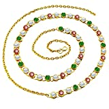 #3: PCM Colourful Gold Plated Strand Kamar Bandh For Women