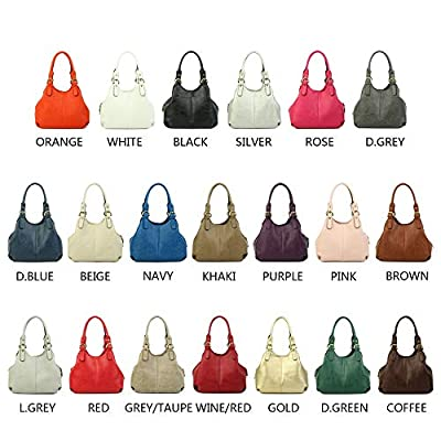 Craze London Multiple Pockets Medium Size Hobo Handbag Long Strap Shoulder Bag Cross body bag for Women