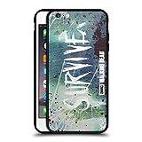 Offizielle AMC The Walking Dead Überleben Glas Typografie Schwarz Rückseiten Hülle aus Hybrid Glass für iPhone 6 Plus/iPhone 6s Plus