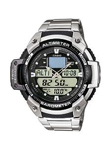 Reloj de caballero CASIO SGW400HD1BVER de cuarzo, correa de acero inoxidable color plata de Casio