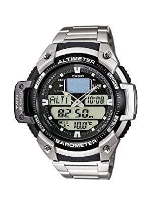 CASIO SGW400HD1BVER de cuarzo, correa de acero inoxidable color plata