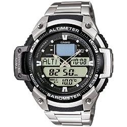 Casio Reloj Analógico/Digital de Cuarzo para Hombre con Correa de Acero Inoxidable – SGW-400HD-1BVER