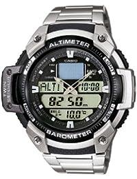 CASIO SGW400HD1BVER - Reloj de caballero de cuarzo, correa de acero inoxidable color plata