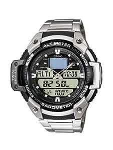 Casio - SGW-400HD-1B - Sports - Montre Homme - Quartz Digital - Cadran LCD - Bracelet Acier Gris