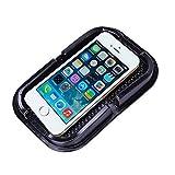 JATrade Handy Smartphone Halterung KFZ Auto PREMIUM Große Anti-Rutsch-Matte-Pad mit Steg - Sehr guter Halt - Klebe-Matte Haftmatte - Armaturenbrett - Hält Iphone, Galaxy u. alle anderen Smartphones sehr gut - Schwarz - 15 x 10 cm