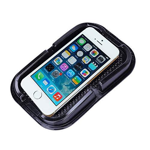 lterung Premium Große Antirutschmatte mit Steg Starke Haftung KlebeHaftmatte Armaturenbrett Kompatibel mit iPhone, Galaxy usw. für Brille Kleingeld sehr geeignet - Schwarz ()
