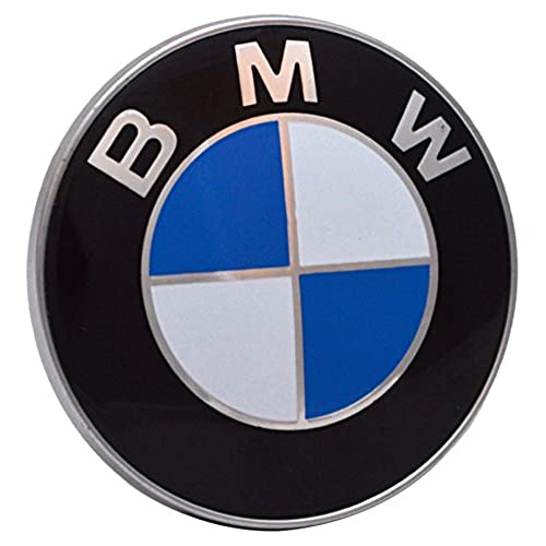 BMW 435435435 Bonnet Boot Hood Emblem 2 Pin Badge 82mm 1 3 5 7 Series M3 M5  X5 E30 E36 E46   Black