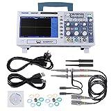 Hantek DSO5102P Osciloscopio USB Stockag digital, Osciloscopio de señal 2CH 100MHz y 110-240V TFT Pantalla LCD 7' 1GSa/s Muestra en tiempo real