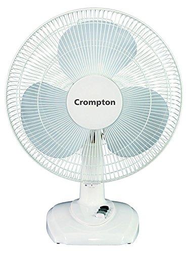 Crompton 1300 RPM Table Fan (White, 20x5x25 cm)