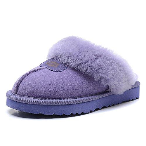 Mesdames intérieur chaud chaussures réparation Mouton Chaussons en fausse fourrure 2