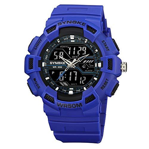 NEEKY Herren Armbanduhr,Sportuhren,Für Unisex Fitness Uhren - Multi Funktions wasserdichte Uhr Digital Double Action Watch