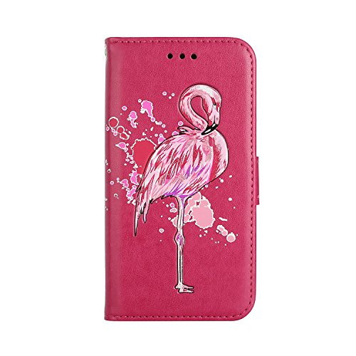 Mokyo Samsung Galaxy S7 Case [with Free Stylus Pen],Luxury Glitter Bling  Sparkle Pink Flamingo Series Design Flash Powder Faux Leather Flip Wallet  Case With ...
