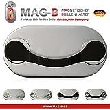 MAG-B soporte para gafas magnético (acero inoxidable negro)