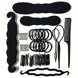 Soleebee Accessoires de Coiffure, Cheveux Coiffures Ensemble de coiffure Aide, Beauté Magique Cheveux Conception Styling Accessoires Set Cheveux Modélisation Accessoires Kit DIY, 8 sortes (Set 2)