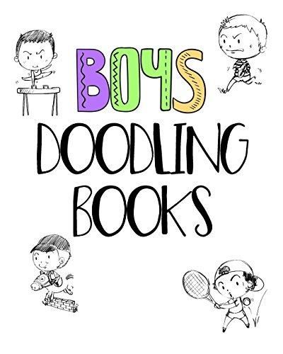 Boys Doodling Books: Dot Grid Journal Sketchbook