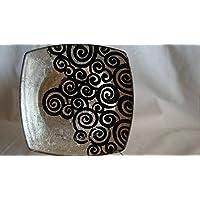 Piattino con foglia d'argento
