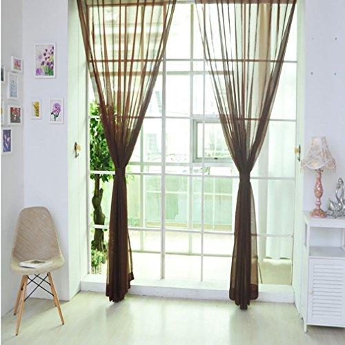 DOLDOA 1 PCS reine Farbe Tulle Tür Fenster Vorhang Drapieren Platte schiere Schal Valances (Größe M (L x B): 270cm x 100cm., G)