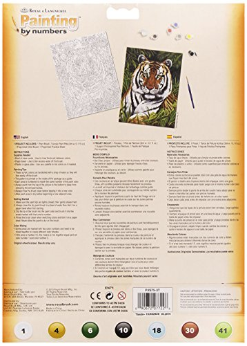Royal & Langnickel PJS76 Malen nach Zahlen – Tigerpaar weiß - 2