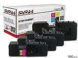 4x kompatibler Toner ersetzt Kyocera TK-5240 K / M / C / Y für Ecosys M5526 / P5026 schwarz gelb cyan magenta