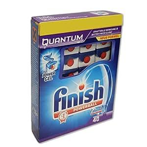 Finish Quantum macchina detergente per lavastoviglie Tabs con nucleo in gel Power (40PZ. Confezione)