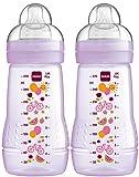 MAM 99957422 - Easy Active Baby Bottle 270 ml, Babyflasche, Doppelpack für Mädchen