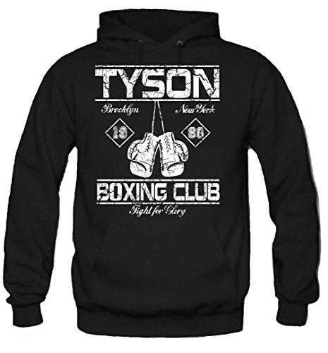 uglyshirt89 Tyson Boxing Club Kapuzenpullover | Männer | Herren | Vollkontakt | Boxen | Boxing | Boxer | MMA | Fight | Gym | Sport | Film | Kult (XL)